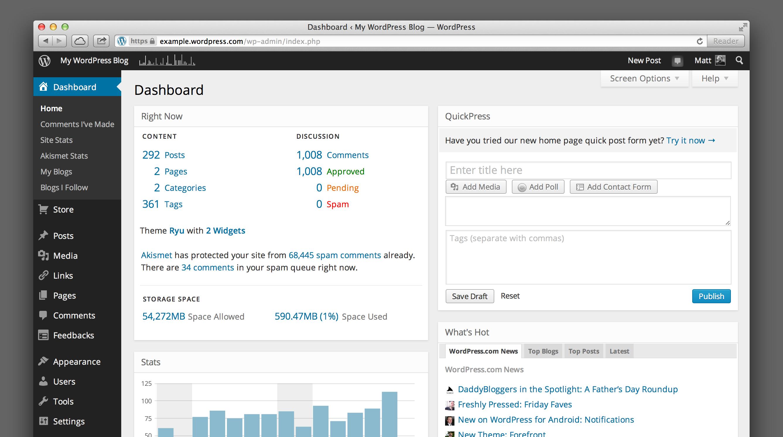 WordPress kullanımı, yönetim paneli videosu